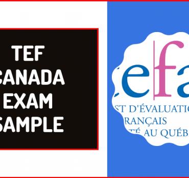 tef canada exam sample